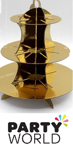 Cupcake / Treat Stand - 3 Tier - Gold