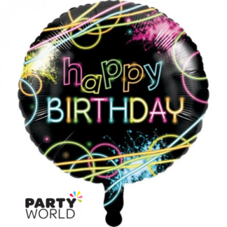 glow party foil balloon