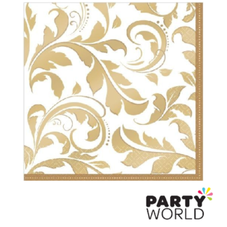 gold elegant scroll napkins