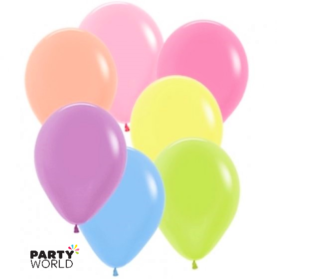 neon latex balloons