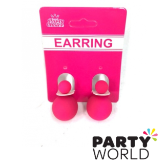 neon pink earrings