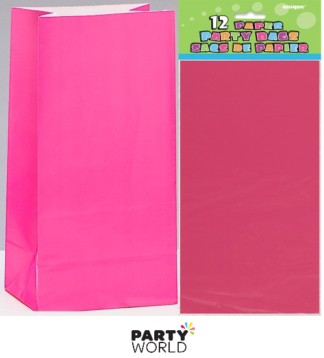 pink paper bags