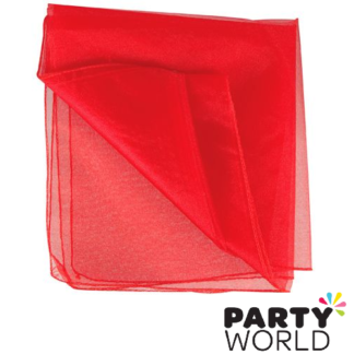 red organza draping fabric