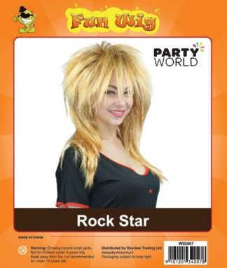 rock star party wig