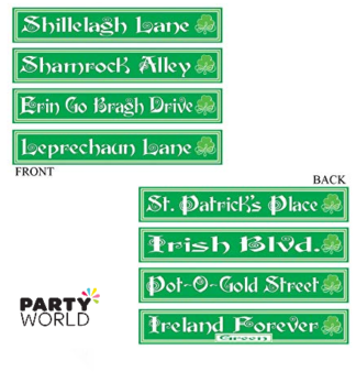 st patricks day irish street signs