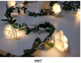 white rose led lights