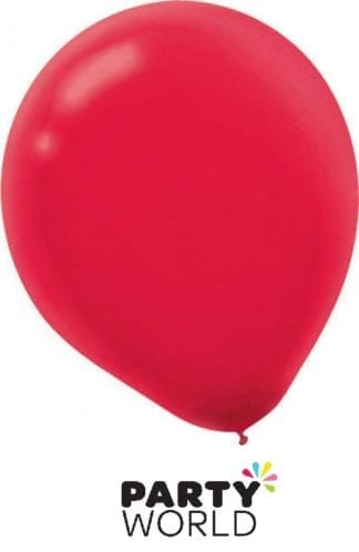 Apple Red Mini Latex 5inch Balloons (50)