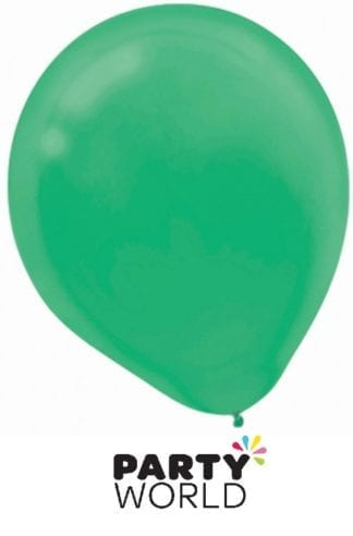 Festive Green 30cm Latex Balloons (15)