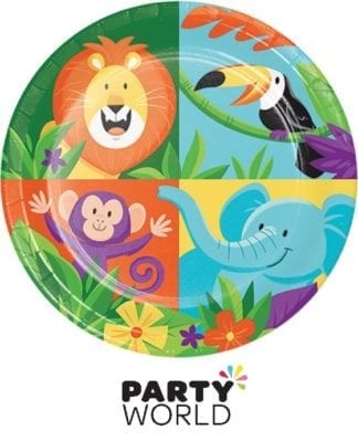 Jungle Safari Animal 7inch Paper Plates (8)