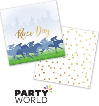 Race Day Beverage Napkins Pack of 16