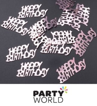 Rose Gold Happy Birthday Foil Scatters
