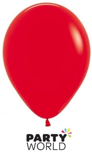 Sempertex Solid Colour 40cm Fashion Red Latex Balloon