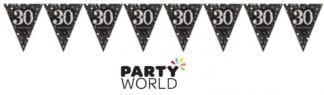 Sparkling Celebration 30th Prismatic Pennant Banner - Plastic