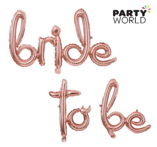 bride to be script foil balloon