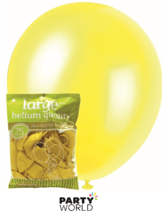 metallic yellow balloons 25pk