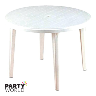 white table for hire
