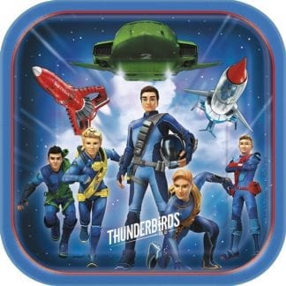 Thunderbirds Party Square Paper 9in Plates (8)