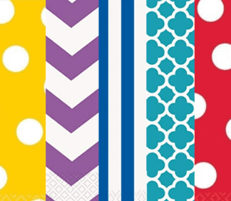 Dots, Stripes & Chevron Tableware & Decorations