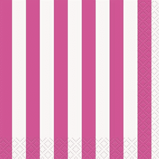 Hot Pink Dots, Stripes & Chevron