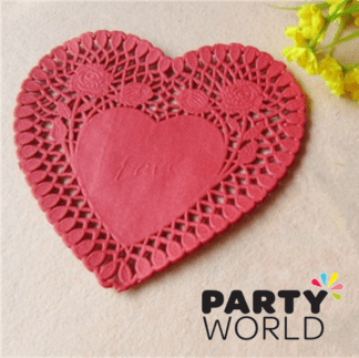 love heart doilies