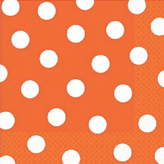 Orange Dots, Stripes & Chevron