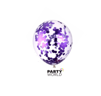 purple confetti balloon