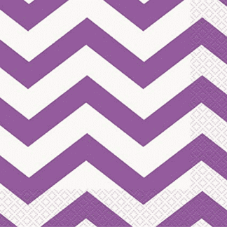 Purple Dots, Stripes & Chevron