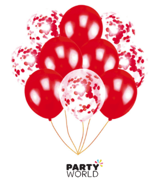 red confetti balloons