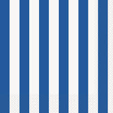 Royal Blue Dots, Stripes & Chevron