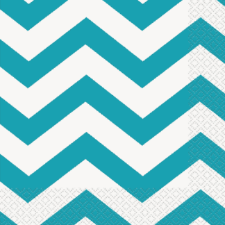 Caribbean Teal Dots, Stripes & Chevron
