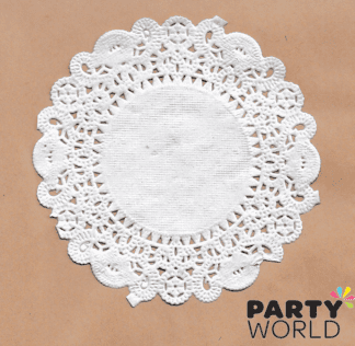 white paper doilies