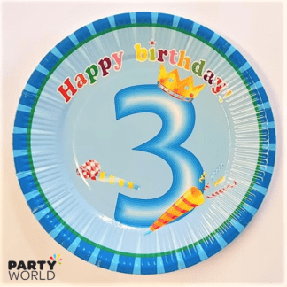 3rd bday plates