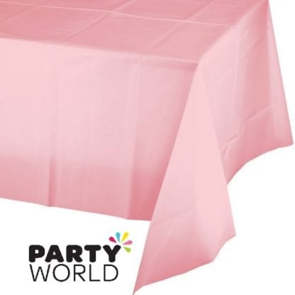 Classic Pink Rectangular Plastic Tablecover