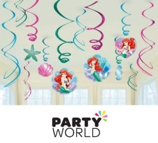 Little Mermaid Ariel Hanging Swirl Decoration Pack