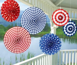 Patriotic Summer Paper Fan Decorations (6)