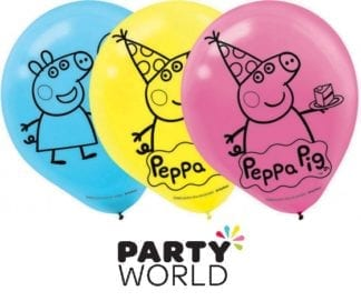 Peppa Pig Party 30cm Latex Balloons (6)