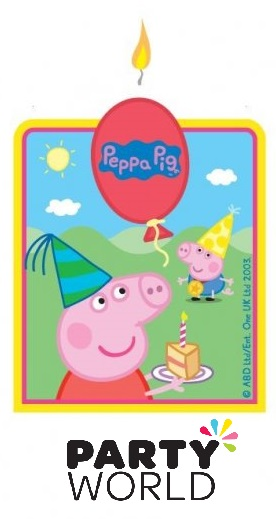 Peppa Pig Party Large Cake Candle