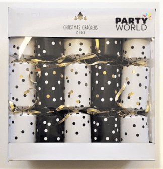 christmas crackers gold dots