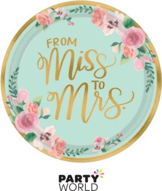 from miss to mrs plates