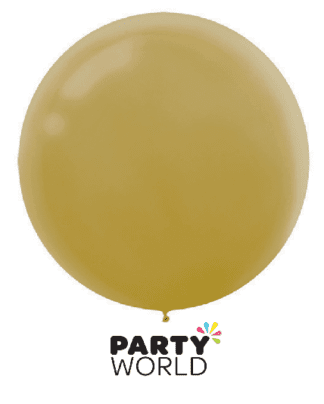 large gold balloon