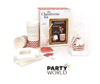 red stripe decorating kit