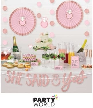 she said yes treat table decorating kit