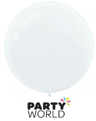 white large balloon