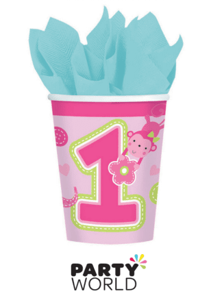 1st birthday pink cup