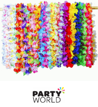 FLOWER LEIS HAWAIAN LUAU PARTY ACCESSORIES