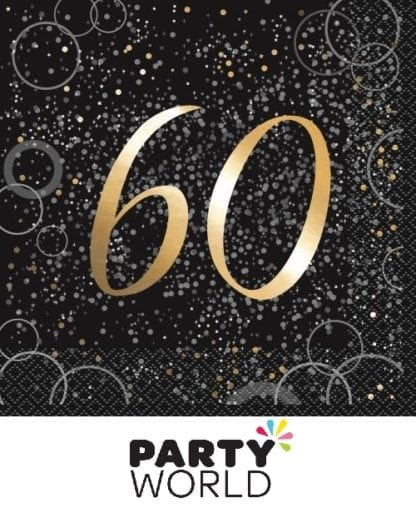 Glitz Gold 60th Luncheon Napkins (16)