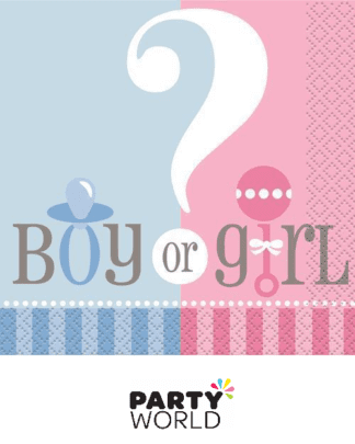 gender reveal napkins