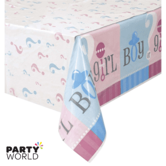 girl or boy tablecover gender reveal