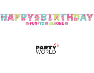 happy 1st birthday one wild girl banner
