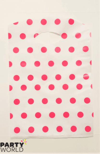 pink polka dot loot bag